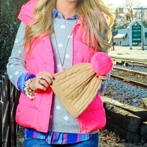 Neon pink puffer vest size small